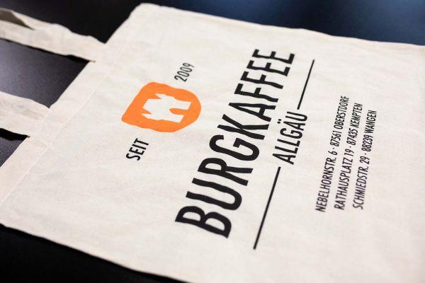 Burgkaffee Baumwolle-Tragetasche